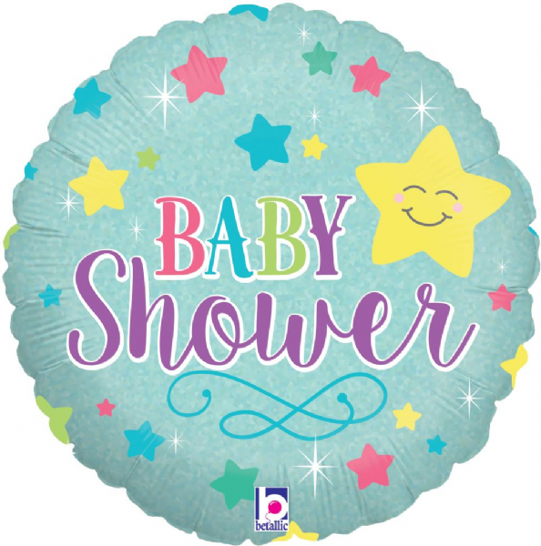 Baby Star Shower Foil Balloon